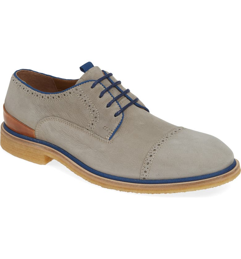 J&M 1850 Wagner Cap Toe Derby, Main, color, GREY SUEDE
