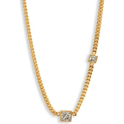 Nordstrom Cubic Zirconia Curb Chain Necklace