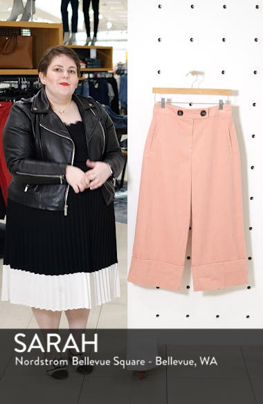 Crop Wide Leg Corduroy Trousers, sales video thumbnail