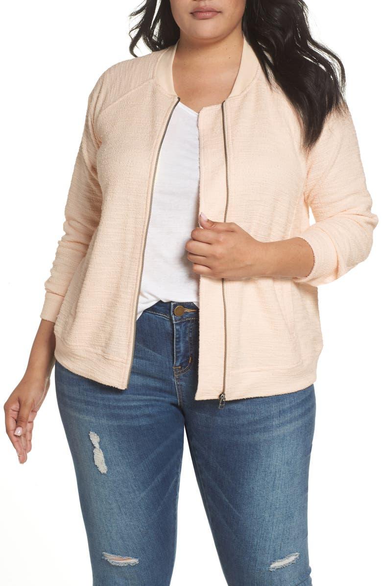 CASLON<SUP>®</SUP> Knit Bomber Jacket, Main, color, 270