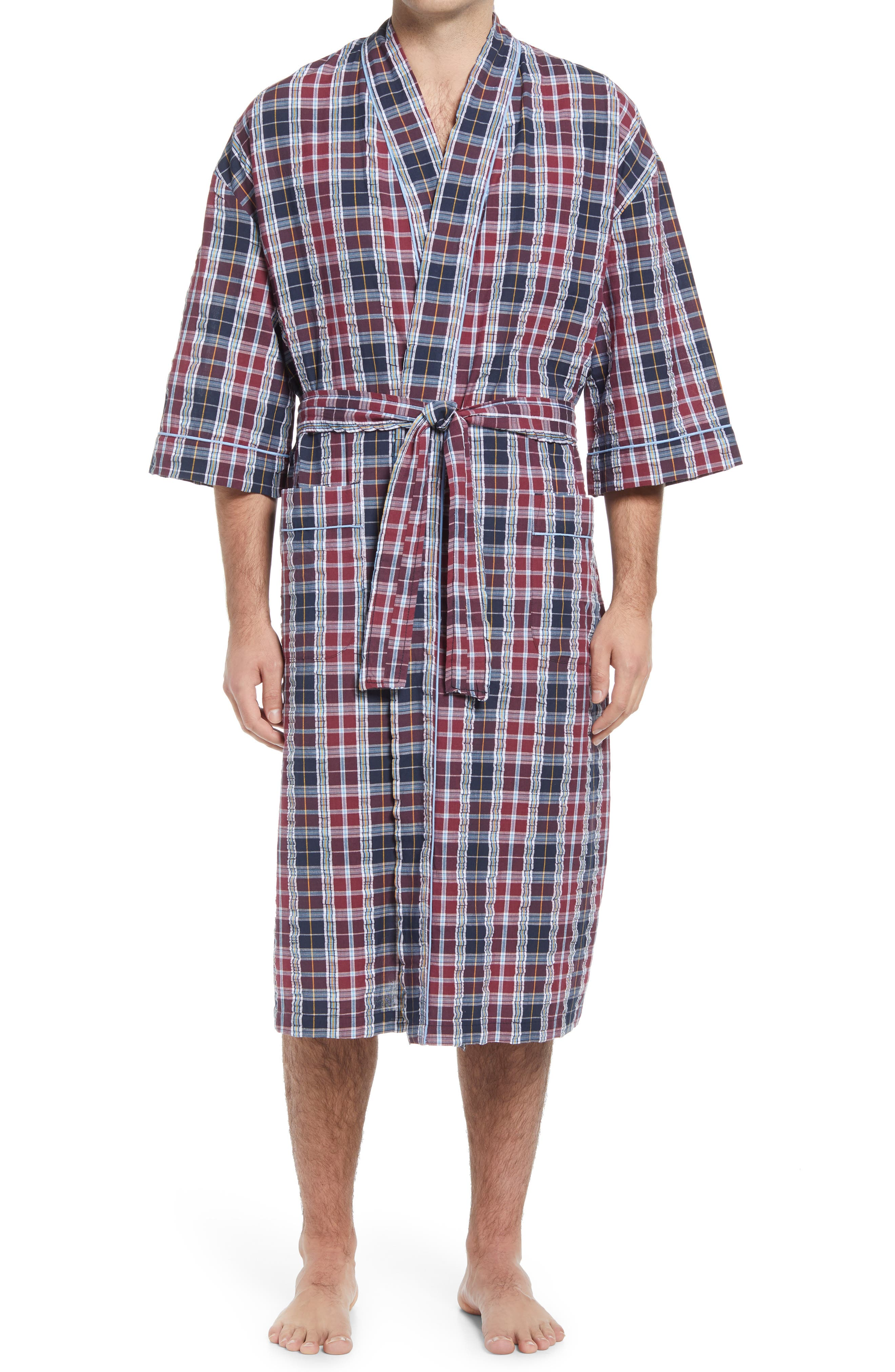 Men's Sun Up Seersucker Robe