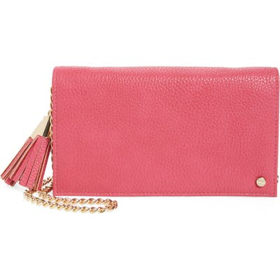 Mali + Lili Tassel Convertible Vegan Leather Clutch - Pink