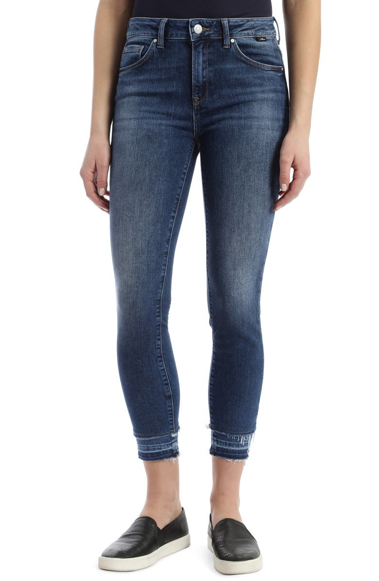 MAVI JEANS Tess High Waist Double Released Hem Skinny Jeans, Main, color, DOUBLE HEM VINTAGE