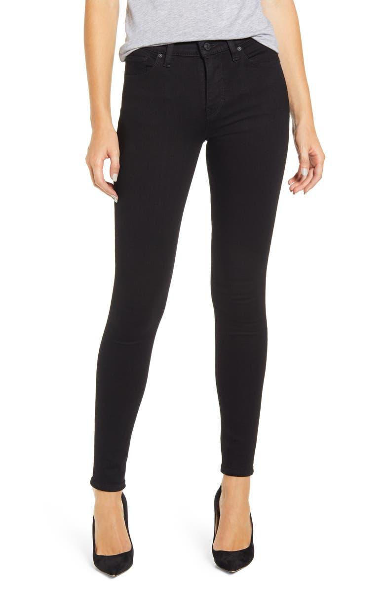 HUDSON JEANS Nico Super Skinny Jeans, Main, color, BLACK