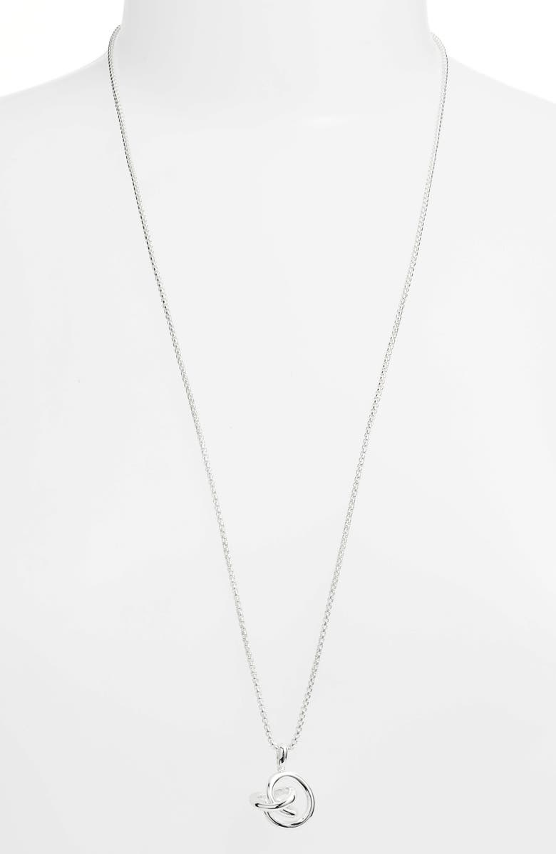 KENDRA SCOTT Presleigh Pendant Necklace, Main, color, SILVER