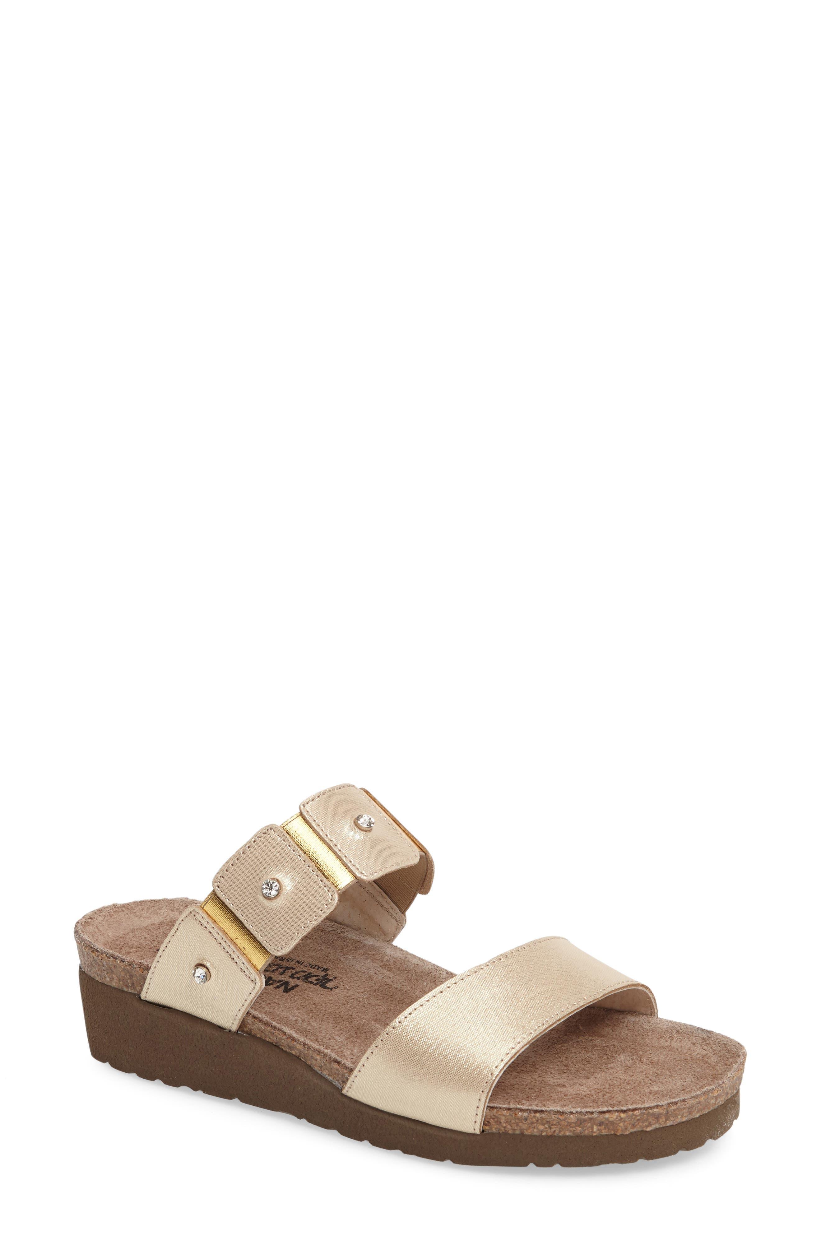 Women's Naot 'Ashley' Sandal, Size 4US - Metallic