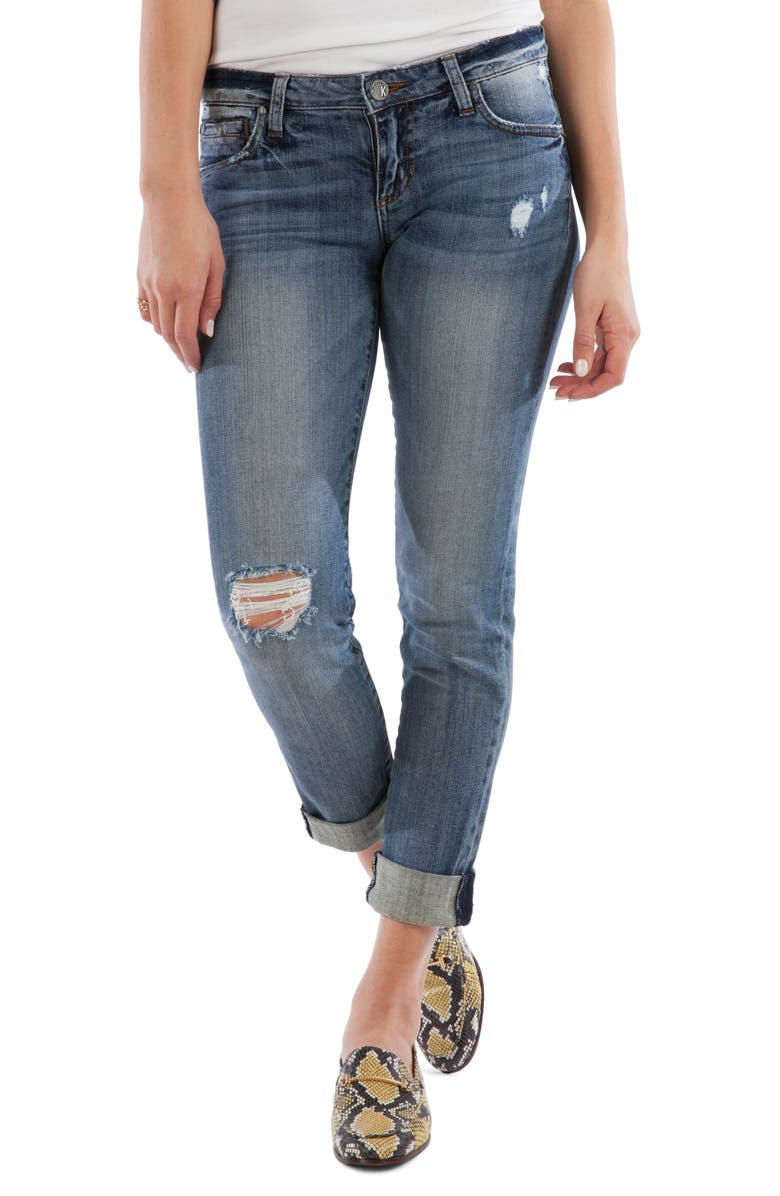 KUT FROM THE KLOTH Catherine Ripped Boyfriend Jeans, Main, color, 452