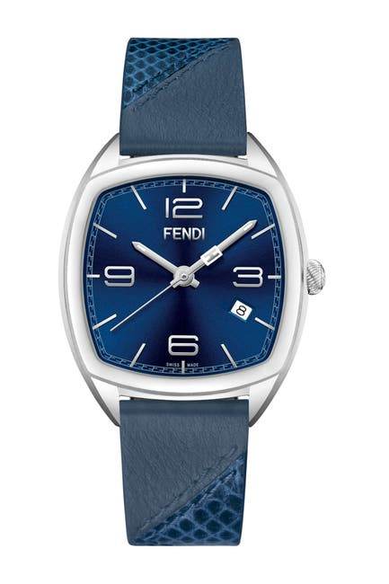 Image of FENDI Women's Momento Leather Strap Watch, 39 x 46.5 mm