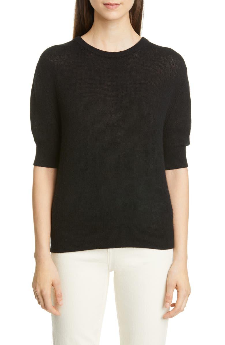 KHAITE Dianna Cashmere Blend Sweater, Main, color, BLACK