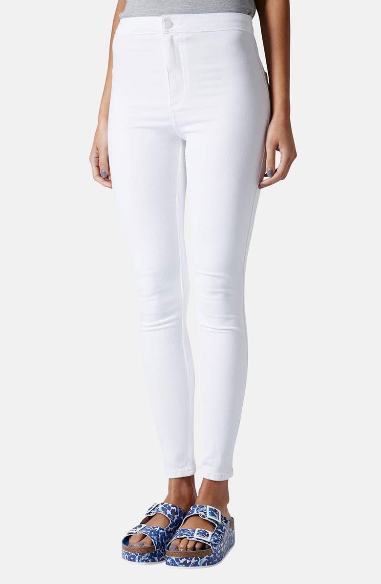 TOPSHOP Moto 'Joni' High Rise Skinny Jeans, Main, color, 100