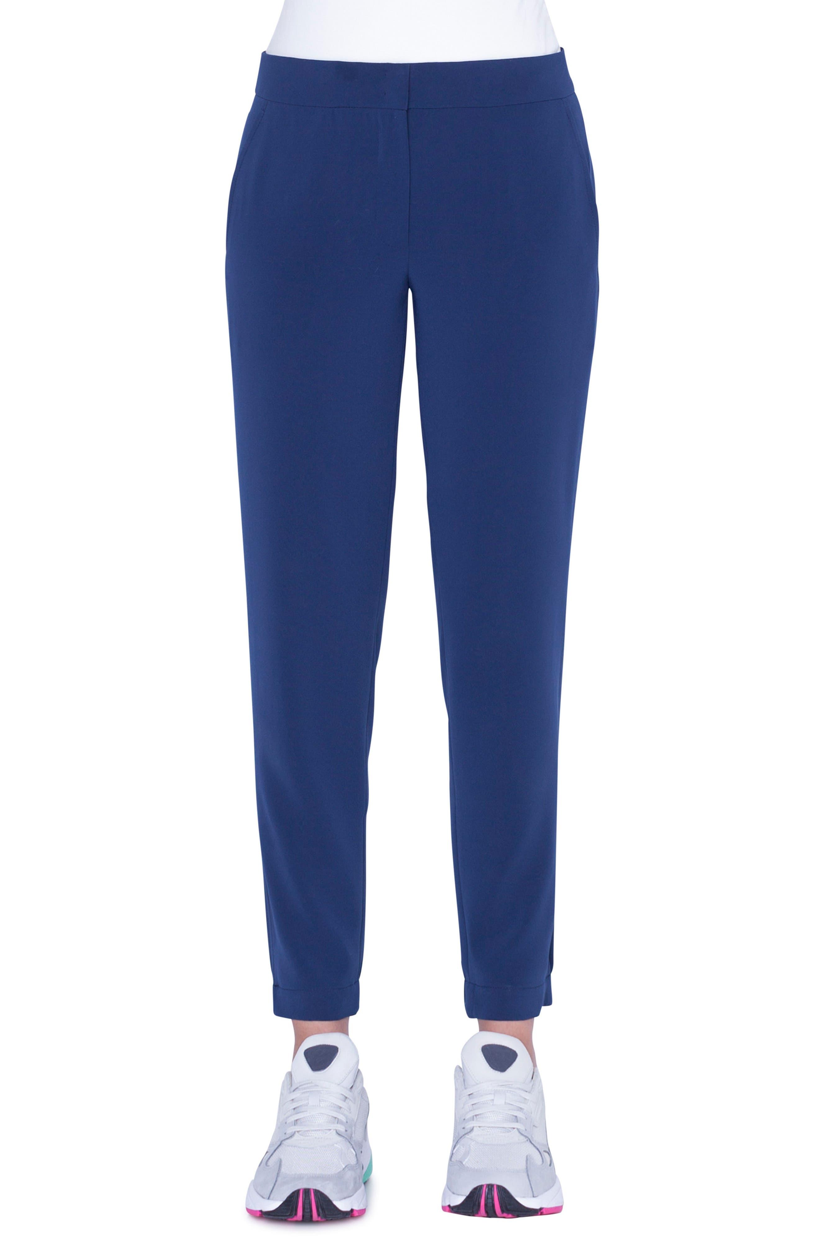 Akris Punto Florette Cargo Pants, Blue