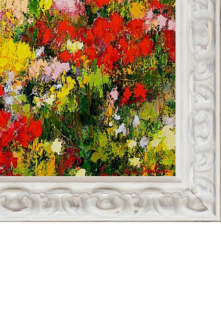 "Image of Overstock Art Overgrown with Brimfield Cottage White Frame - 25"" x 29"""
