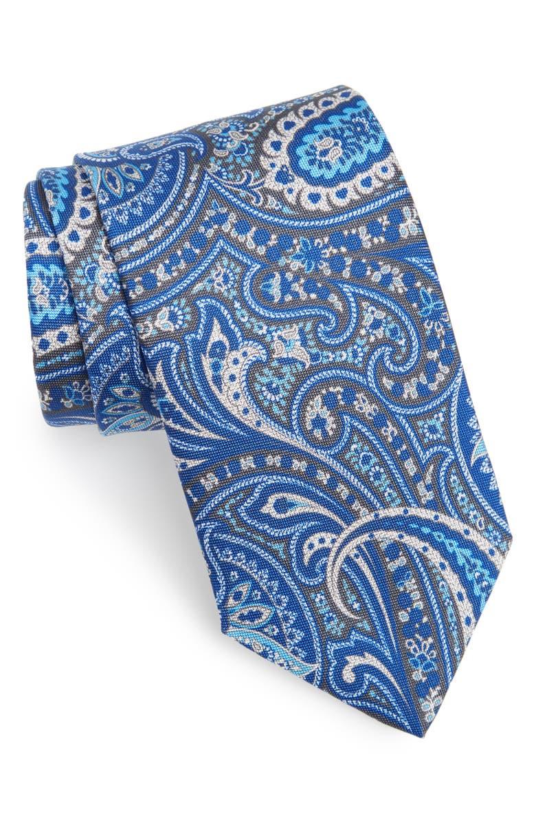 Paisley Silk Tie by David Donahue