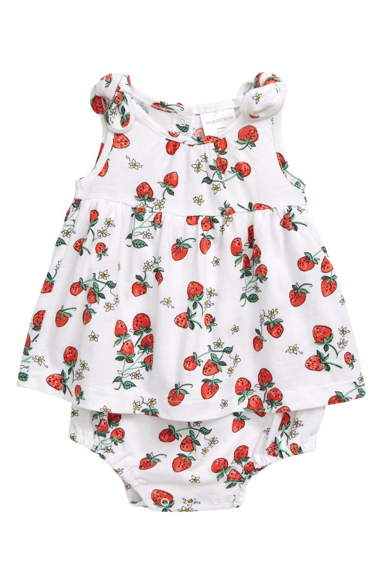 NORDSTROM BABY Bubble Print Dress, Main, color, 101