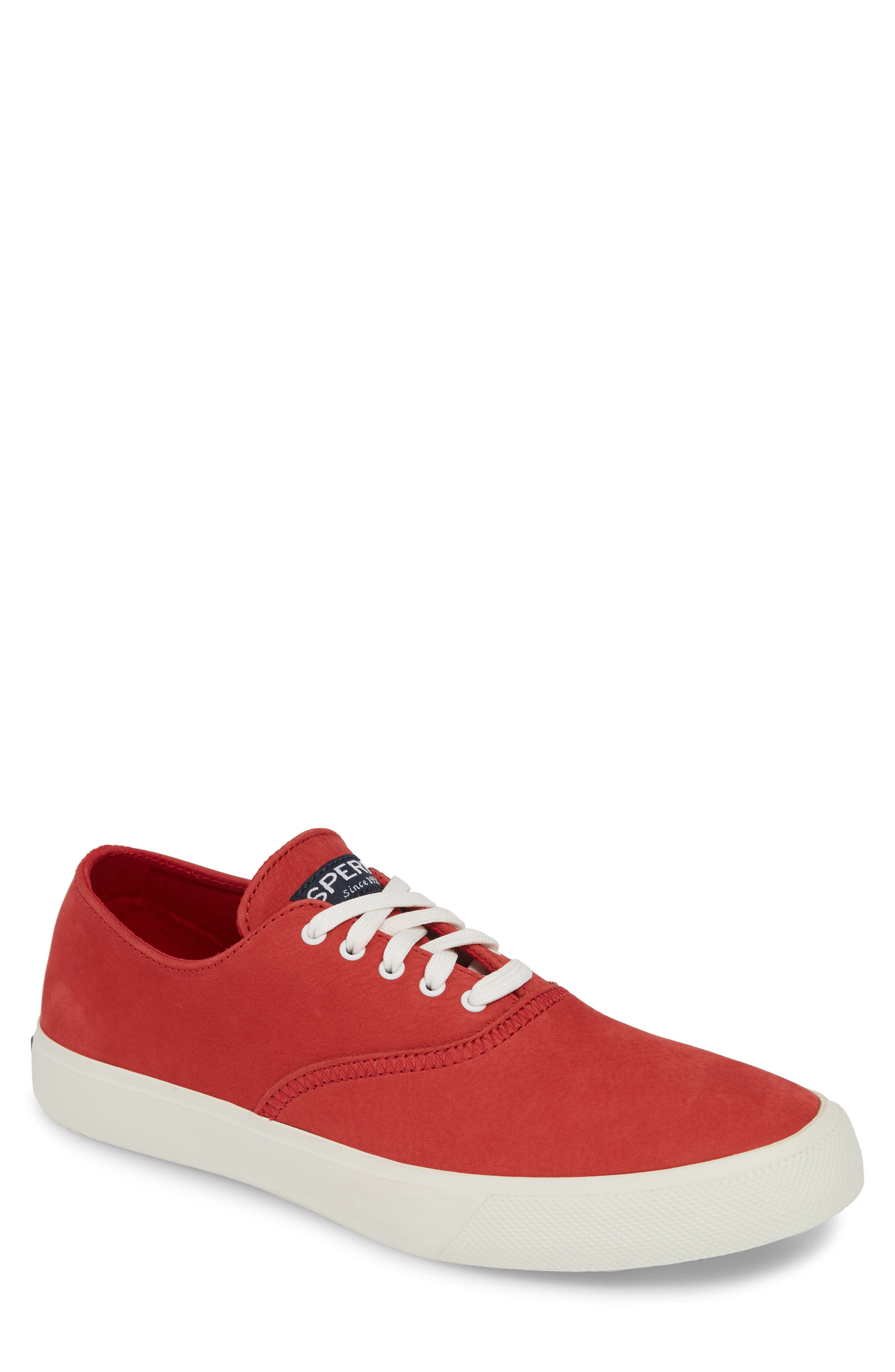 Captains CVO Washable Sneaker, Main, color, RED LEATHER