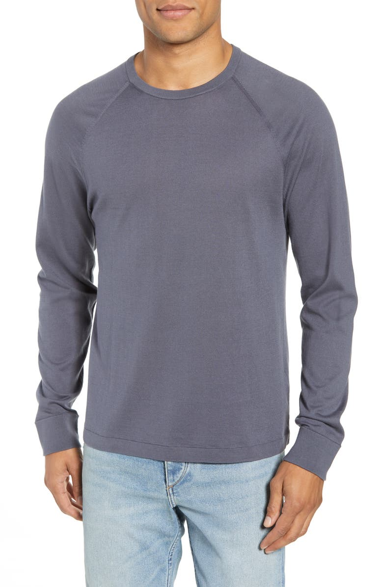 JAMES PERSE Jersey Crewneck Sweater, Main, color, 020