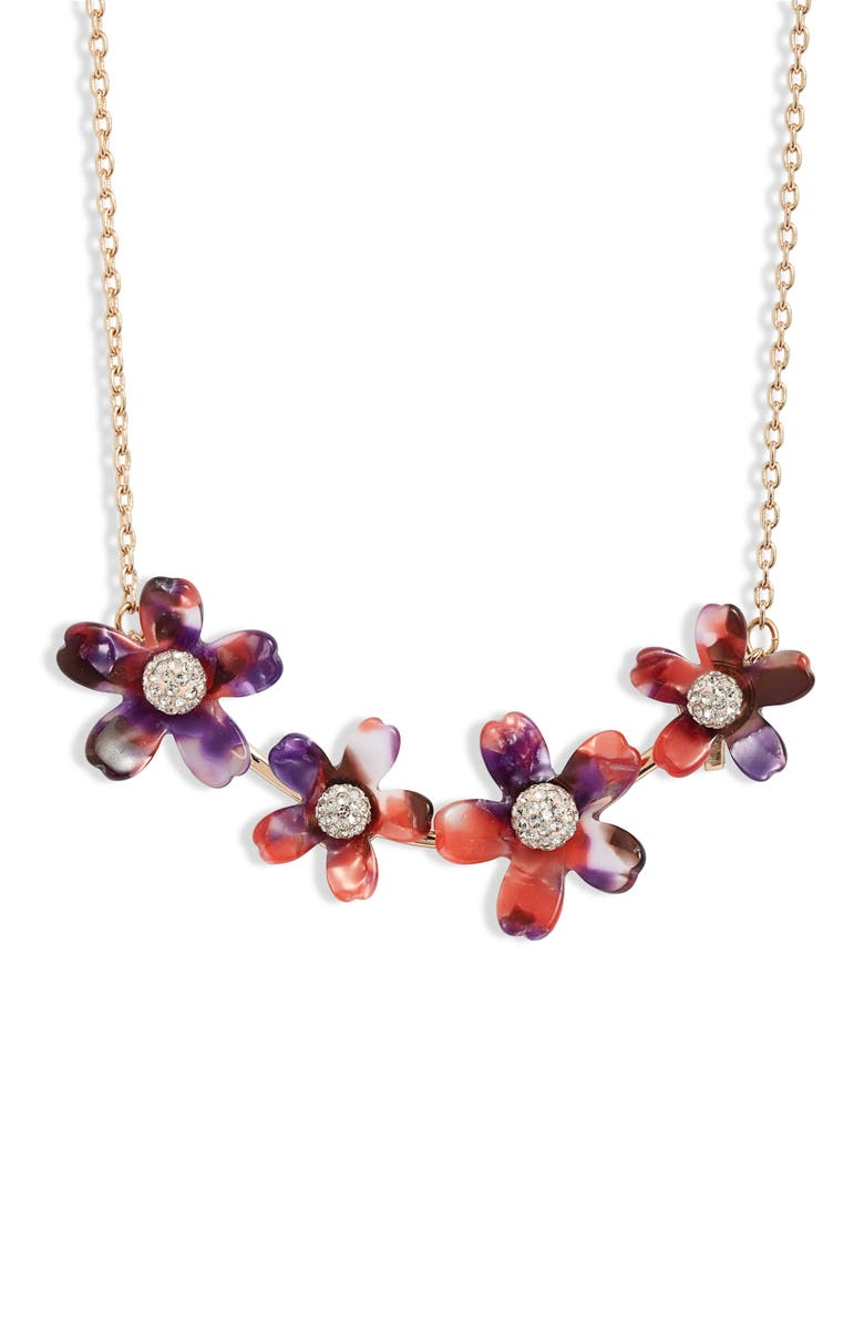 LELE SADOUGHI Garden Bouquet Y-Necklace, Main, color, PURPLE MAGIC
