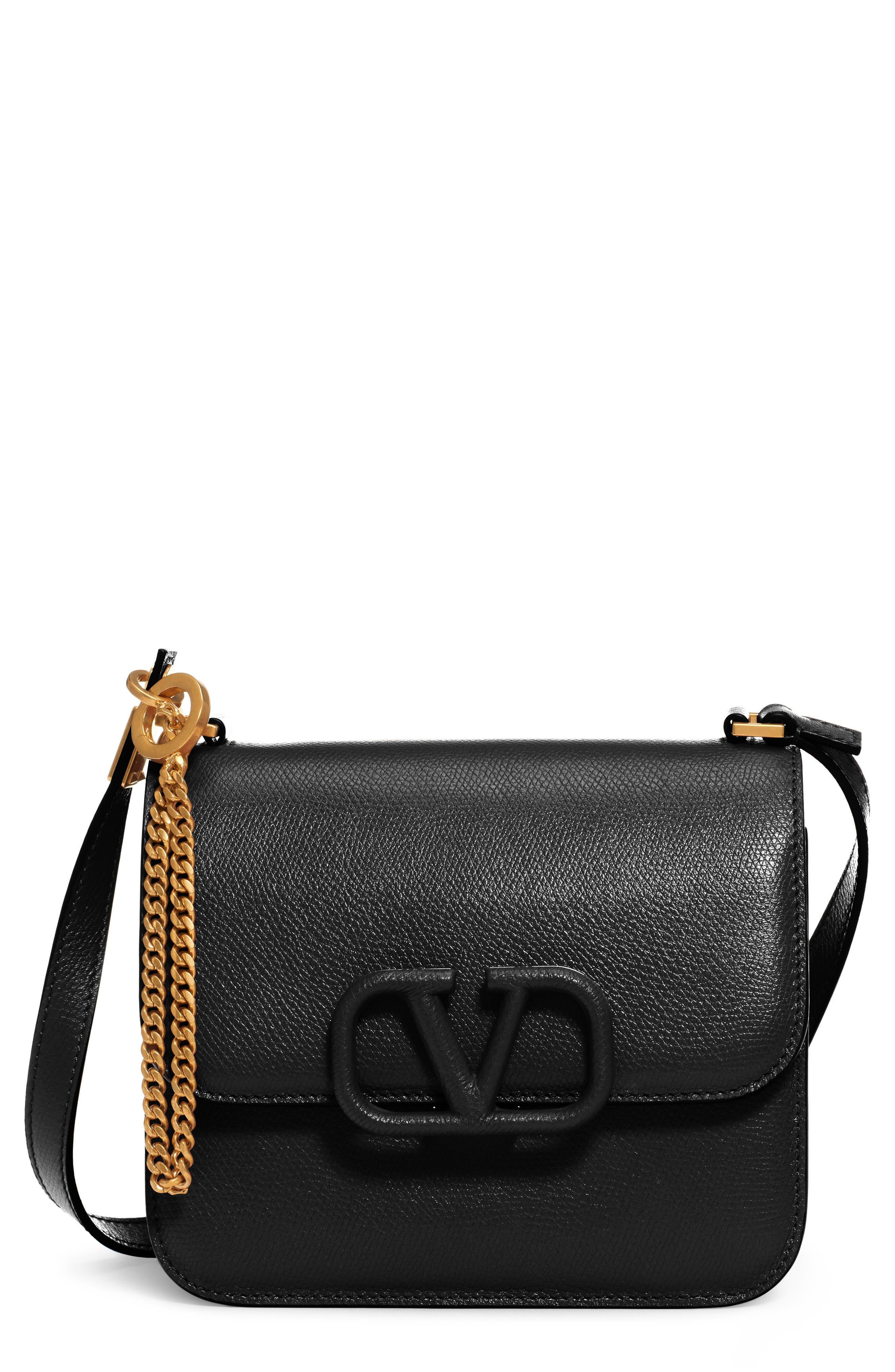 Valentino Garavani Small V-Sling Leather Shoulder Bag   Nordstrom