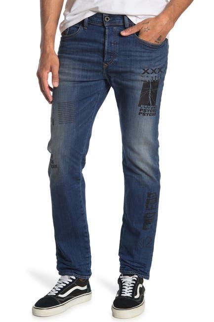 Image of Diesel Buster Printed Straight Leg Jeans