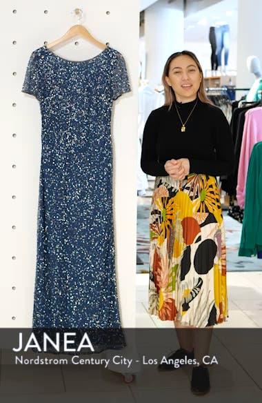 Short Sleeve Beaded Evening Dress, sales video thumbnail