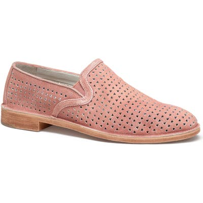 Trask Ali Perforated Loafer, Coral