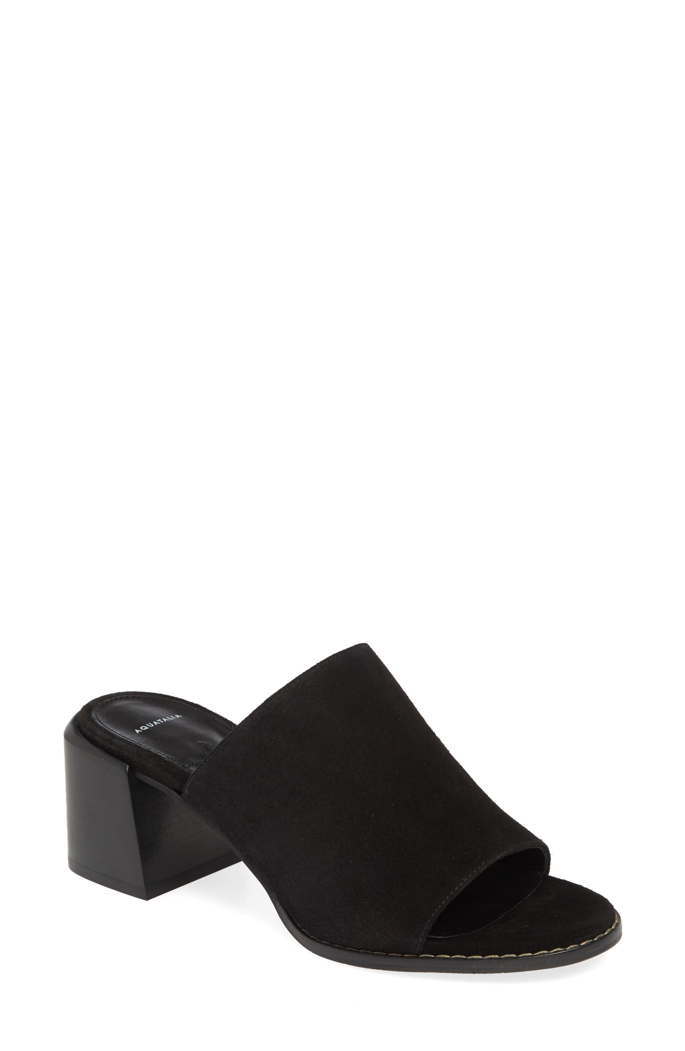 Aquatalia Jayne Slide Sandal, Black
