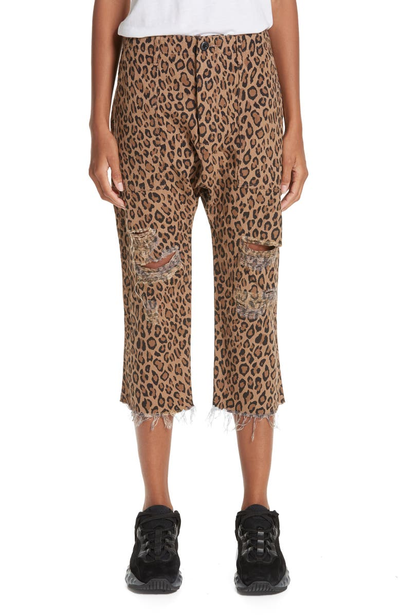 R13 Leopard Utility Pants, Main, color, LEOPARD