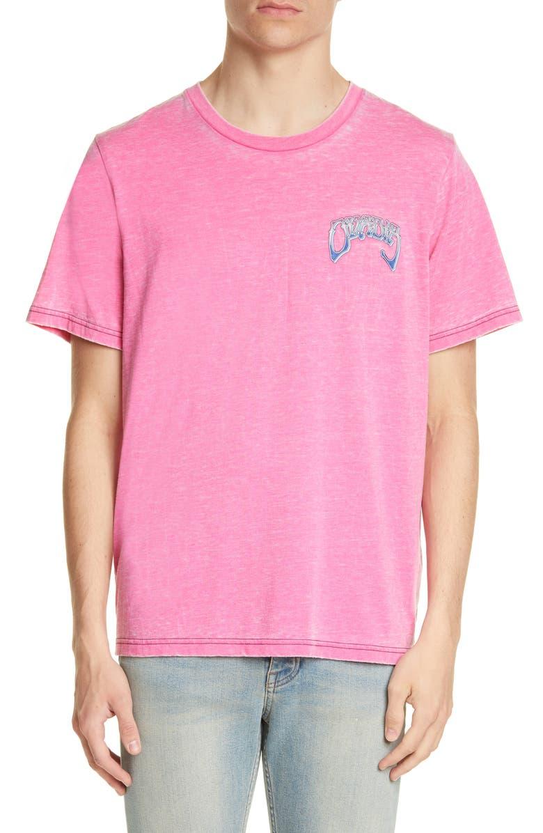 OVADIA & SONS Logo Graphic Burnout T-Shirt, Main, color, 680
