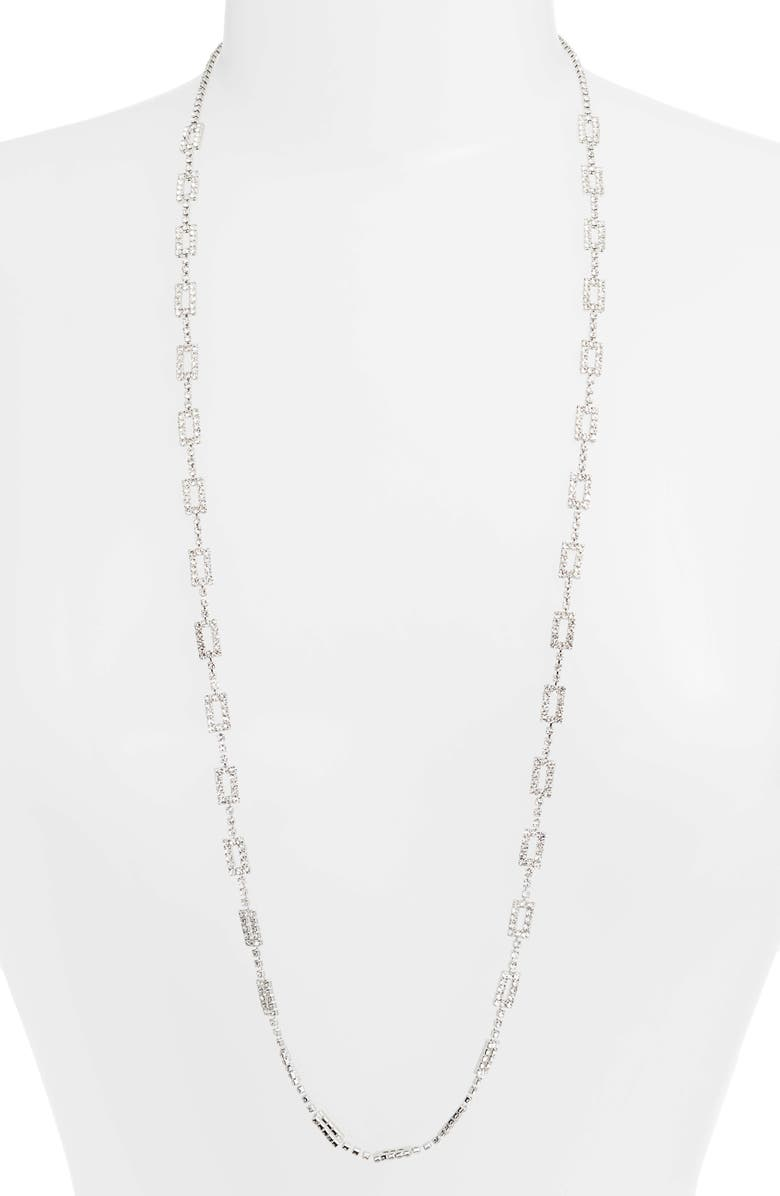 CRISTABELLE Crystal Link Necklace, Main, color, CRYSTAL