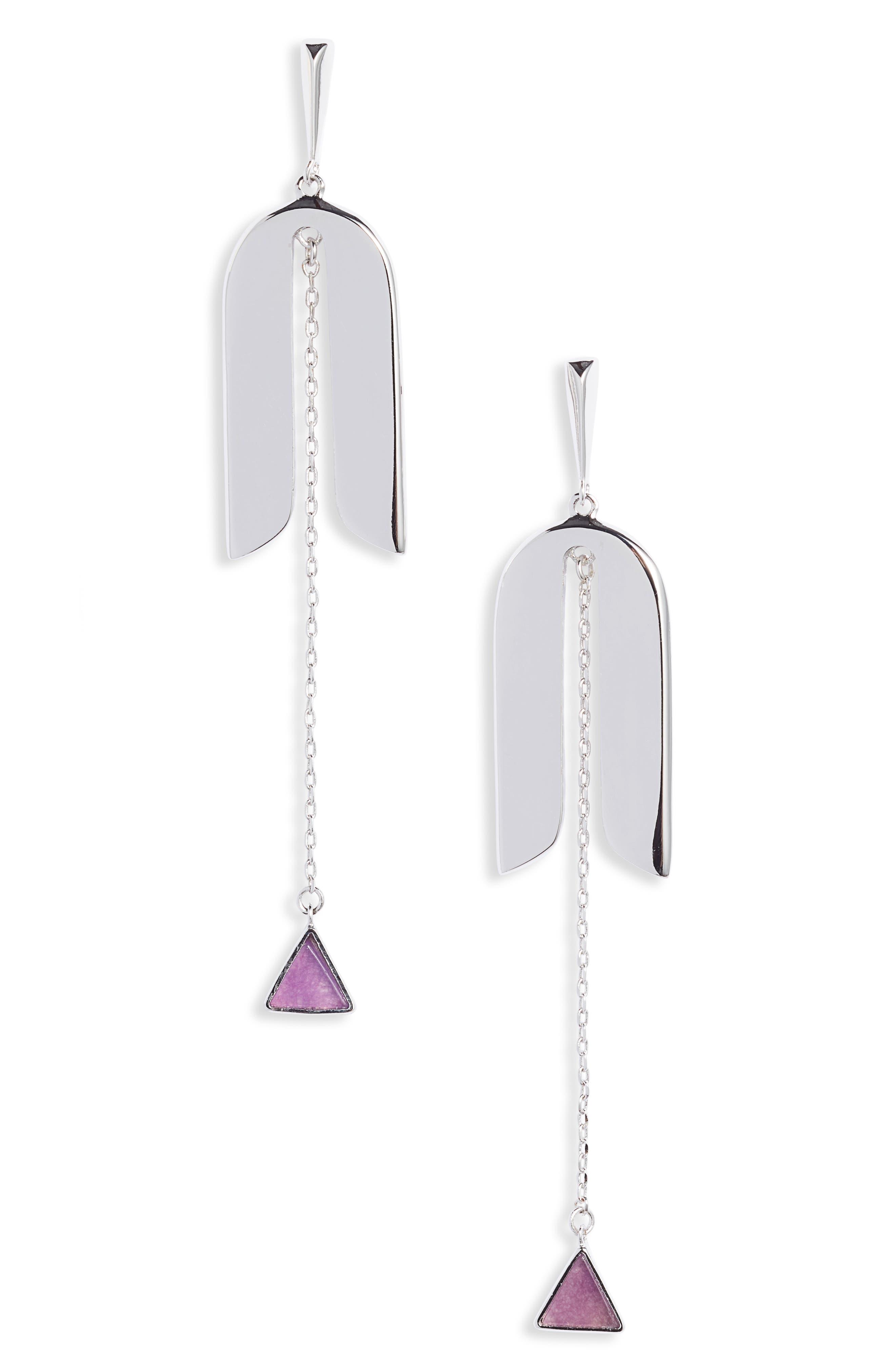 Image of kate spade new york modern icon linear earrings