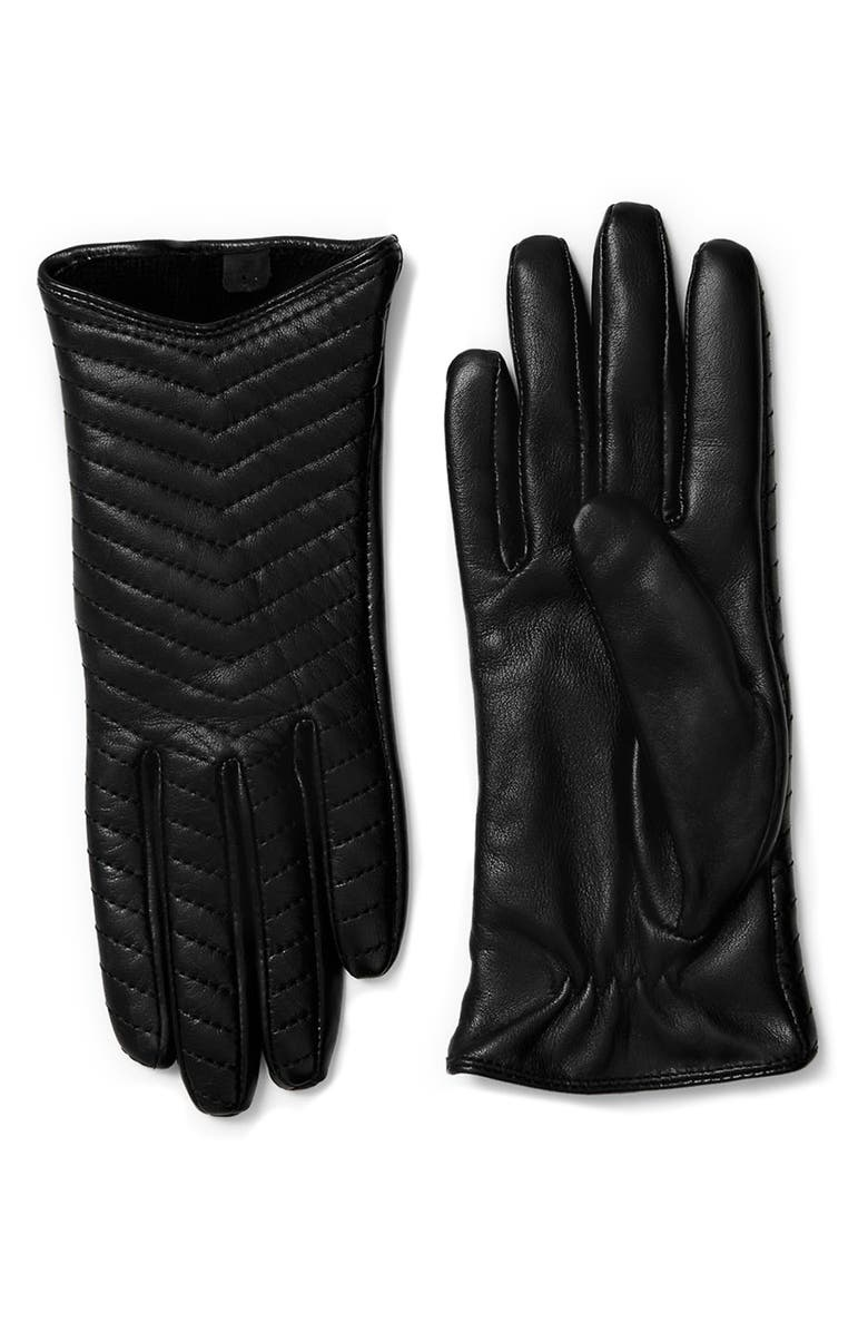 MACKAGE Cano Lambskin Leather Tech Gloves, Main, color, BLACK