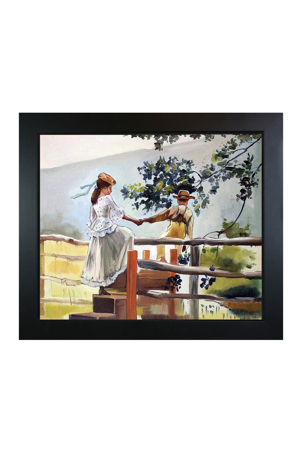 """Image of Overstock Art On the Stile with New Age Black Frame - 24.75"""" x 28.75"""""""