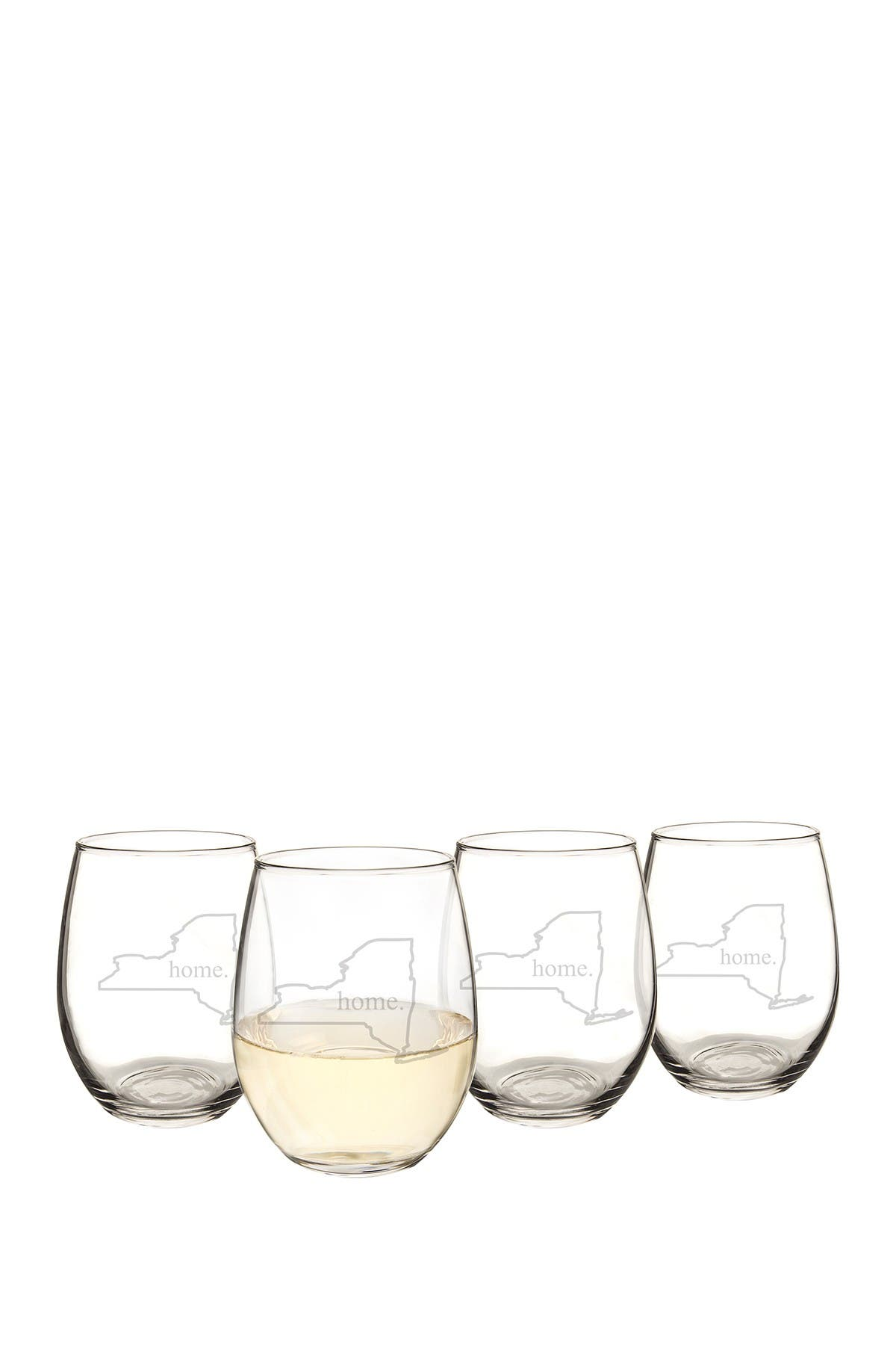 Image of Cathy's Concepts Home State 21oz. Stemless Wine Glass - Set of 4