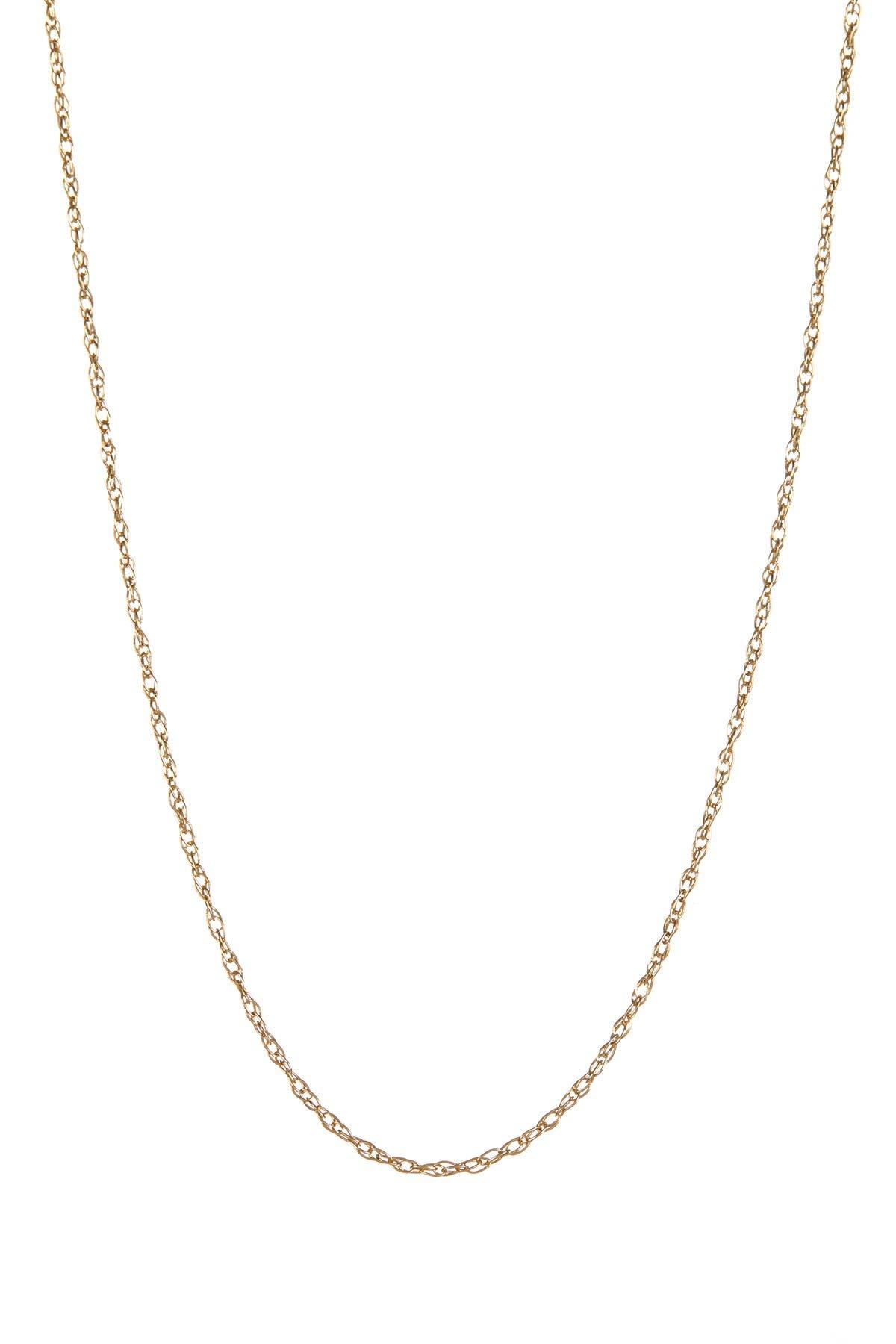 "Image of KARAT RUSH 14K Yellow Gold Rope 16"" Chain Necklace"