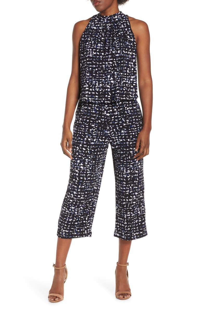 LEOTA Skyler Crop Jumpsuit, Main, color, SUMMER NIGHT BLACK