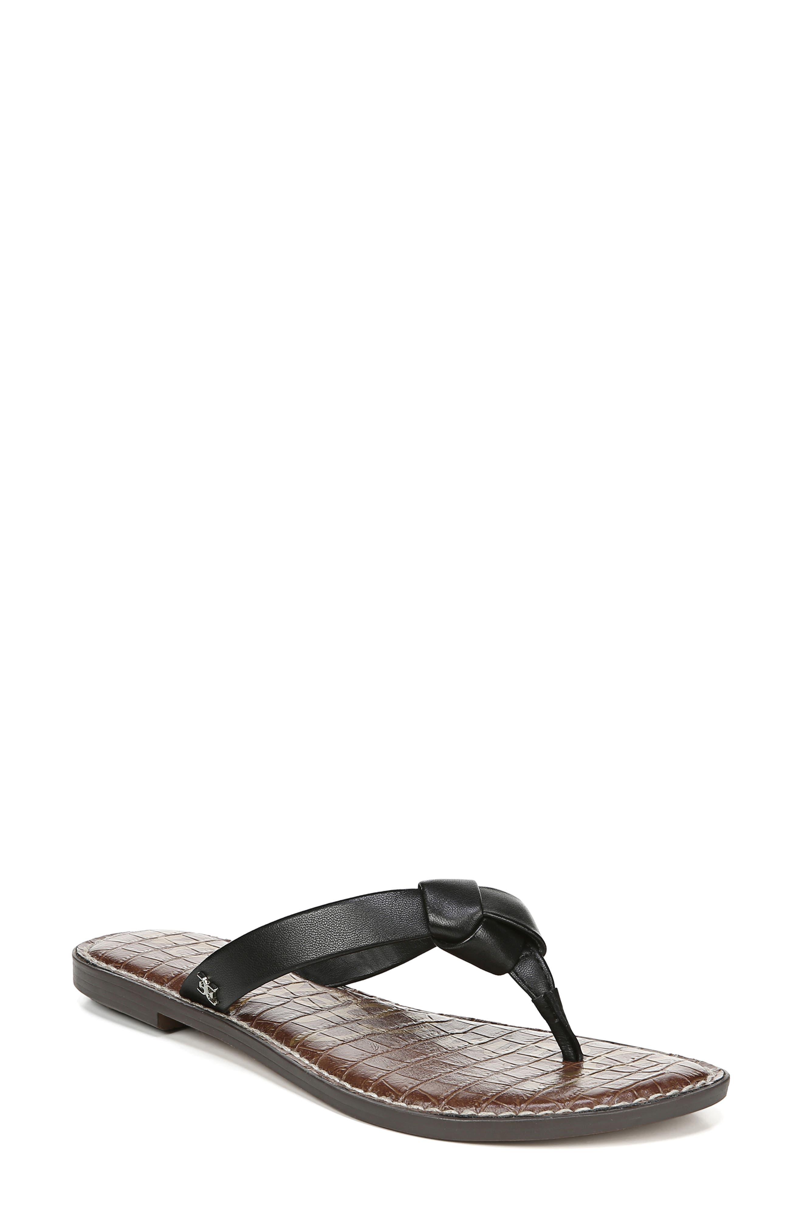 Giles Flip Flop, Main, color, BLACK NAPPA LEATHER