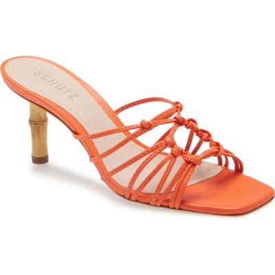 Schutz Dileni Strappy Mule Sandal- Orange