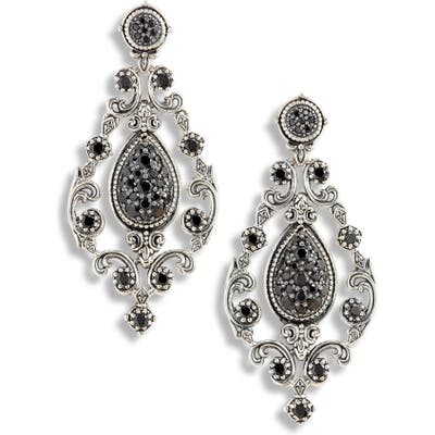 Konstantino Circe Black Spinel Chandelier Earrings