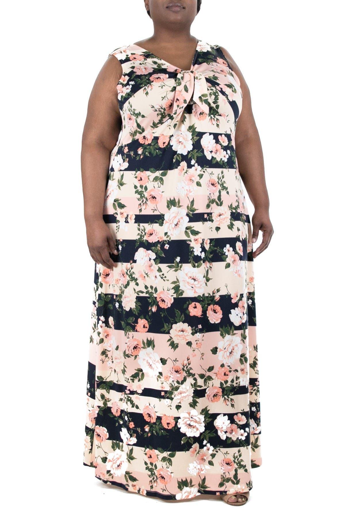 Image of Nina Leonard Sleeveless Maxi Dress