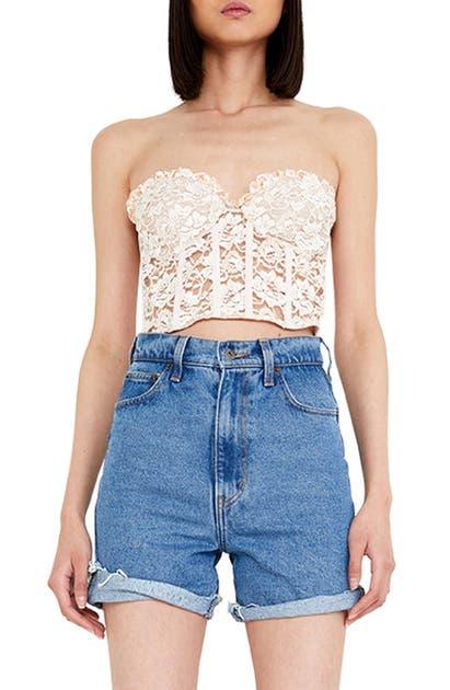 Bardot Clothing LACE BUSTIER