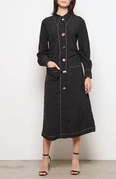 Paula Long Sleeve Midi Shirtdress, video thumbnail