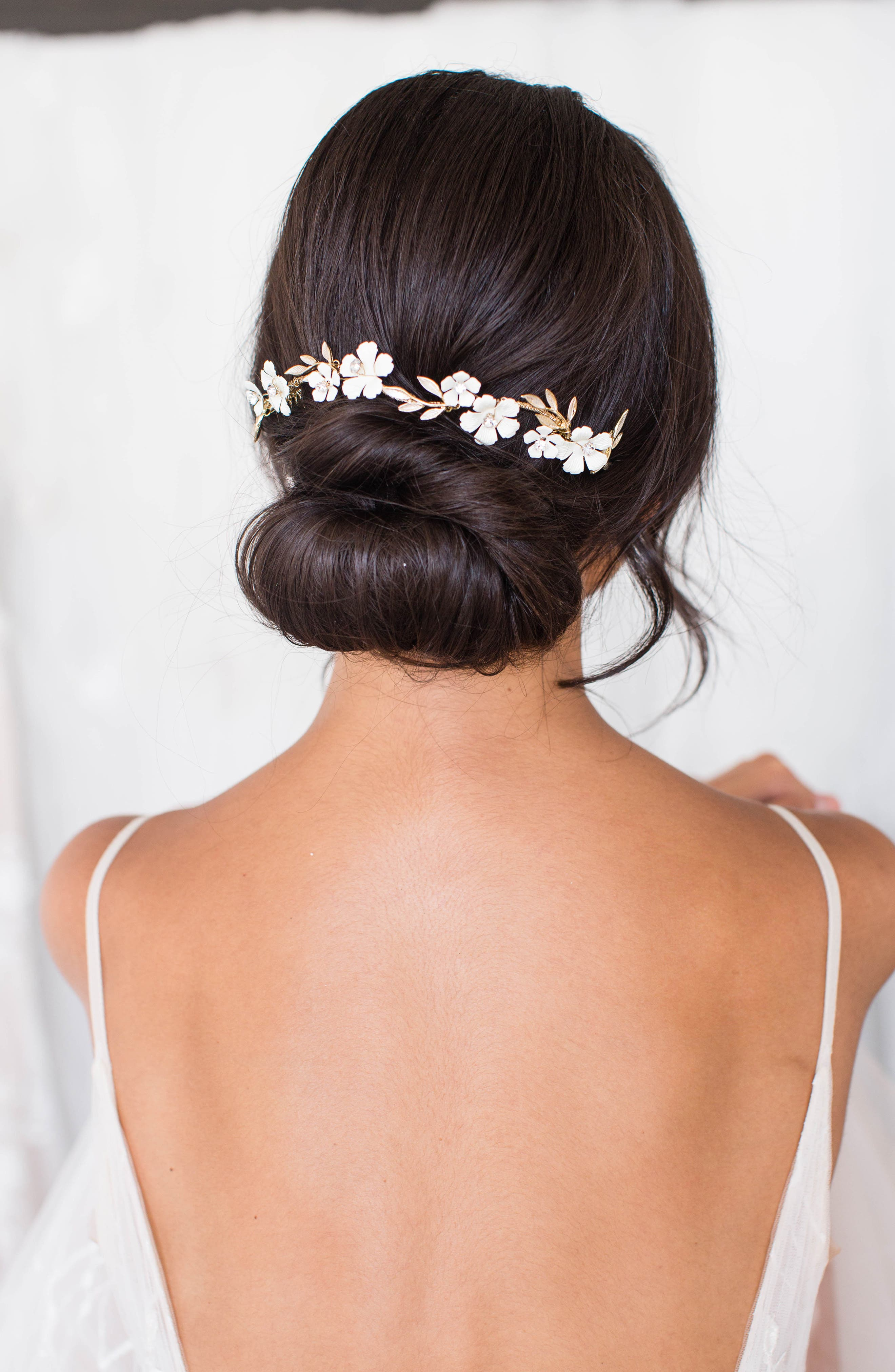 Thisbe Floral Halo Comb
