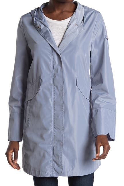 Image of Via Spiga Rain Packable Hooded Jacket