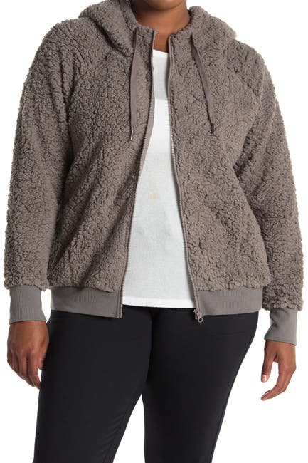 Image of Z By Zella Up & Over Faux Shearling Bomber Jacket