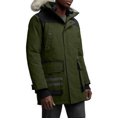 Canada Goose Erickson Down Parka With Genuine Coyote Fur Trim, Green