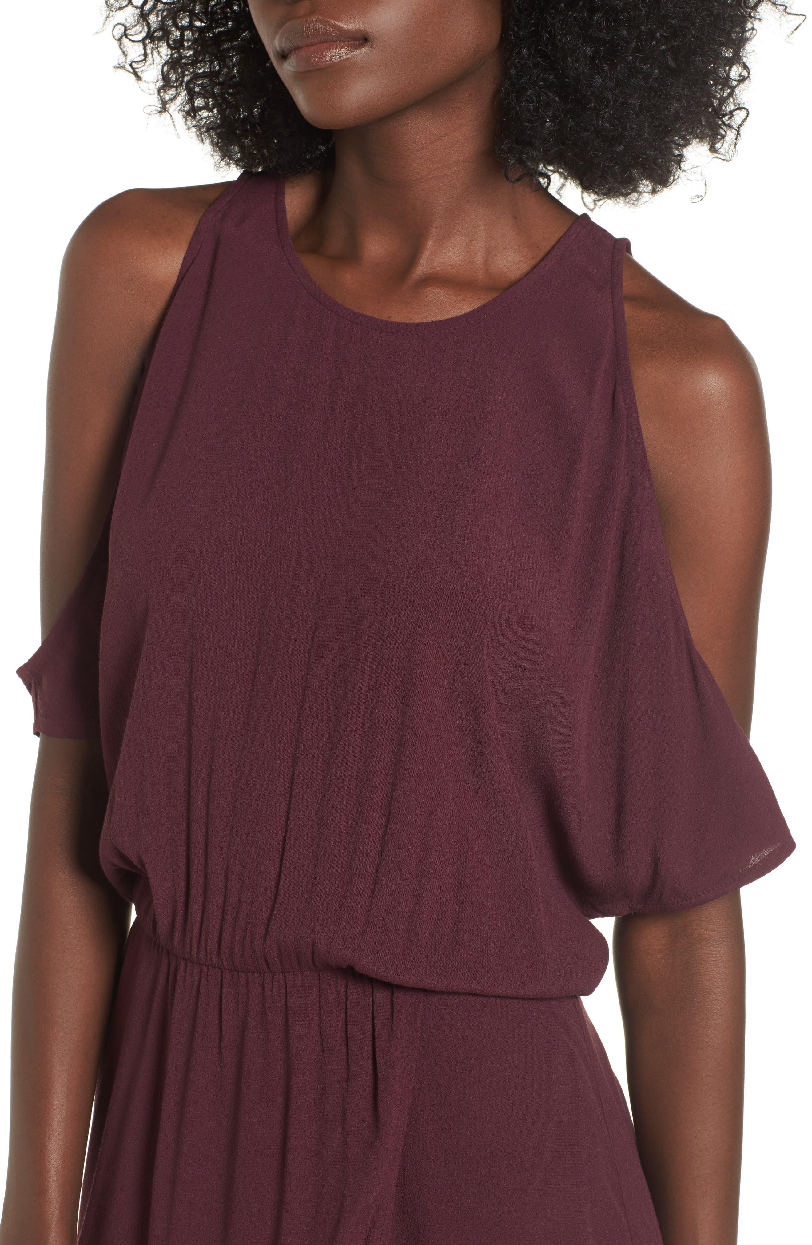 ,                             Cold Shoulder Midi Dress,                             Alternate thumbnail 17, color,                             930