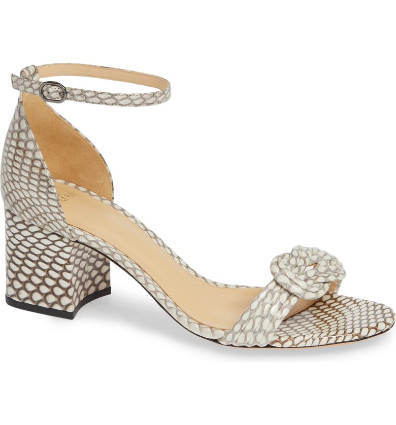 ALEXANDRE BIRMAN Vicky Genuine Snakeskin Sandal, Main, color, NATURAL SNAKESKIN