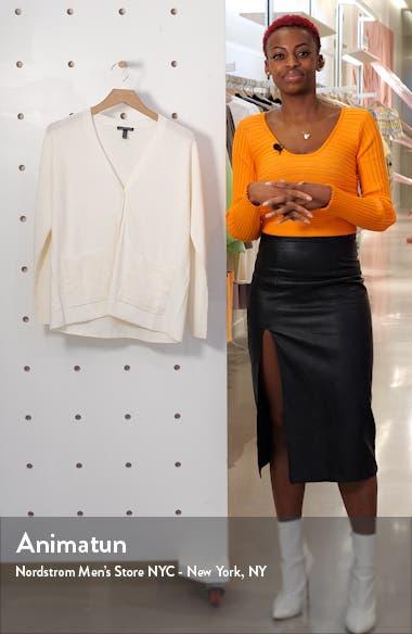Boyfriend Linen Blend Cardigan, sales video thumbnail