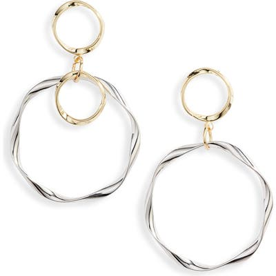 Ten79La Ripple Hoop Drop Earrings