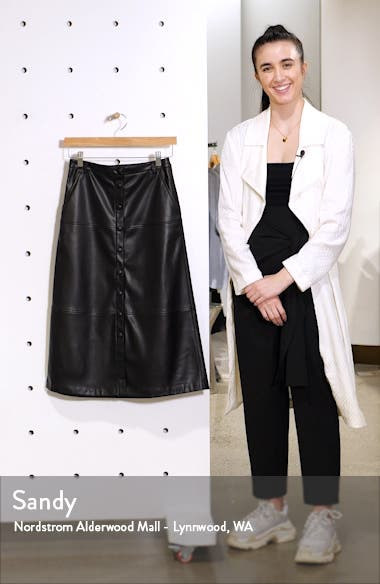 Faux Leather Skirt, sales video thumbnail